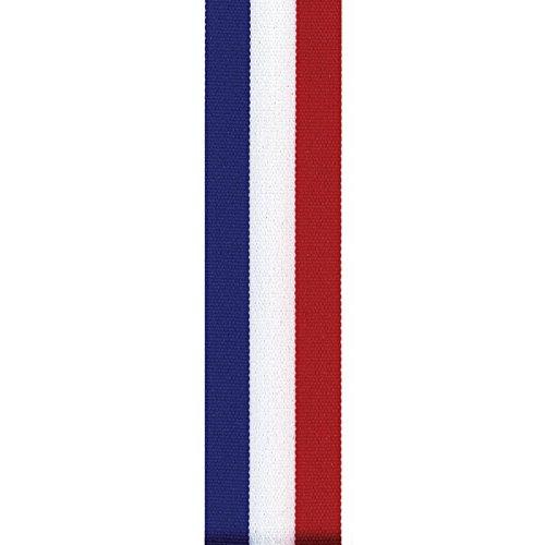 Berwick Offray LLC Offray Tri-Stripe Grosgrain Patriotic Ribbon-5/8 W X 100 Yards-Red/White/Blue ()