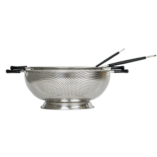 Artigee 4 Piece Colander and Strainer Set, Commercial Grade Stainless Steel Colander, Fine Mesh Colander, Micro-Mesh Sifter and Sieve -