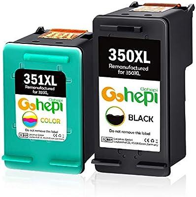 Gohepi 350XL 351XL Cartuchos de tinta Remanufacturado HP 350 351 ...