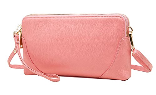 Genuine Clutches Bags bag SAIERLONG Ladies Cross Womens Body Designer Leather Bags Pink Shoulder Wristlets XXqBwR