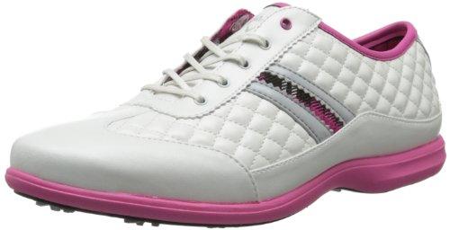 Callaway Women's St. Kitts Golf Shoe,White/Pink,7.5 M US