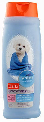 Hartz Groomer's Best Dog Shampoo Whiten Cherry Blossom -- 18 fl oz - 3PC