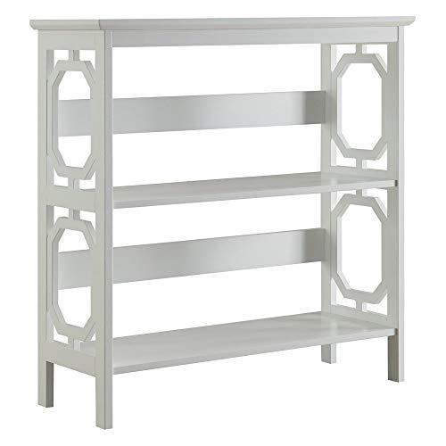 Convenience Concepts Omega 3-Tier Bookcase, White