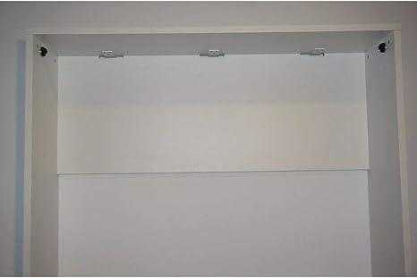 Inside Armario Cama Horizontal Escamoteables Strada Blanco Mate Dormir 140 * 200 cm colchón Grosor 20 cm Incluye: Amazon.es: Hogar