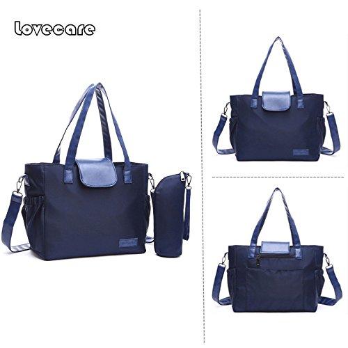 Nuevo estilo momia bolsa hombro bolsa multifunctional-infant Pure Color Bolsa azul azul azul