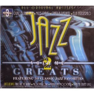 Jazz Greats - Volume 2 - 3 CD's - 30 Songs - Artie Shaw - Tommy Dorsey - Woody Herman - Benny Goodman - Bob Crosby & The Bob Cats - King Cole Trio - Duke Ellington - Lionel Hampton - Count Basie - Ella Fitzgerald - Earl Hines - Cab Calloway - Charlie Parker - Miles Davis - Glenn Miller - Billy Eckstine - Chick Henderson - Pine Top Smith