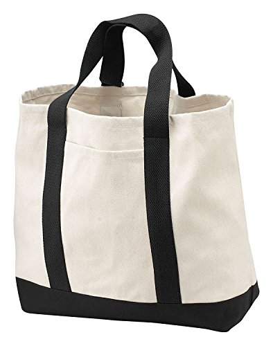 Port & Company Grocery Tote - Port & Company - 2-Tone Shopping Tote Bag