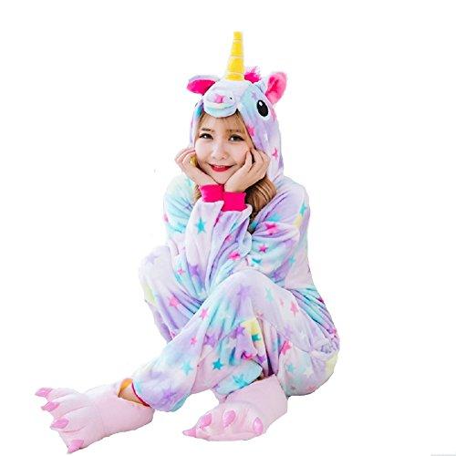 e pigiama Costume di bambini cosplay stelle multicolore Halloween L Pigiama con costume Natale design adulti per vestiti Design carnevale unicorno unisex Stelle per unicorno qAP7It