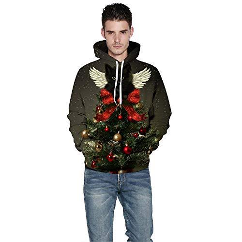 iLUGU Fashion Men Women 3D Christmas Print Long Sleeve Couples Hoodies Blouse Sweatshirts Tops