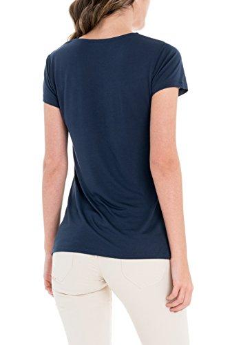 Salsa - T-shirt basique avec de la dentelle - Femme - Bleu