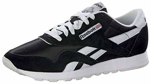 Nylon Reebok Homme Noir blanc Sneakers Classic Basses 5rq81
