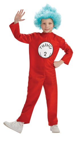 Dr. Seuss Child's Costume And Wig, Thing 2 Costume-Large