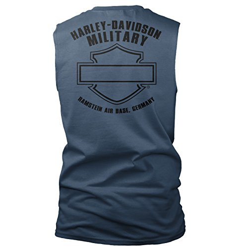 Harley-Davidson Military Men's Skull Graphic Sleeveless Tee - Ramstein Air Base | Accomplice XL ()