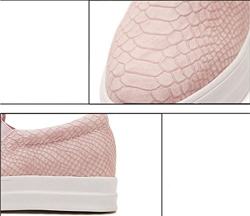 pink Plat À Tennis Femmes Chaussures Pompes Plates De Enfiler Mocassins Skate Minetom Chaussures Gym OqwfgX