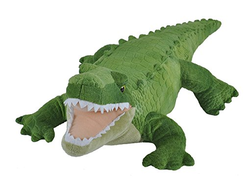 41Z%2BXFRMSKL - Wild Republic Green Alligator Plush, Stuffed Animal, Plush Toy, Gifts For Kids, Cuddlekins, 23""