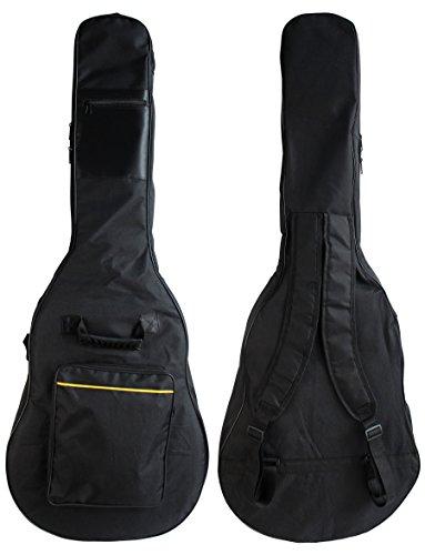 (YMC 39 Inch Waterproof Dual Adjustable Shoulder Strap Acoustic Guitar Gig Bag 5mm Padding Backpack with Accessories(Picks, Pick holder, Strap Lock, String Winder) -For 39