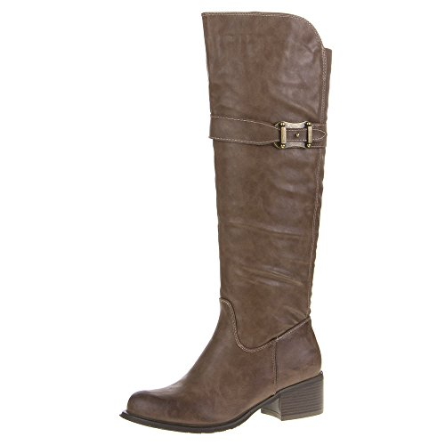 Ital-Design - Botas plisadas Mujer Marrón - marrón