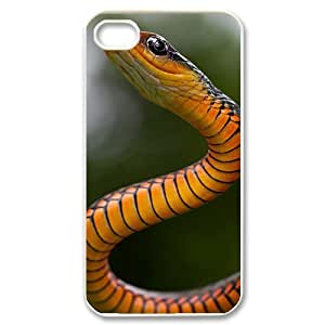 Snake DIY Cover Case for Iphone 4,4S,personalized phone case ygtg533406