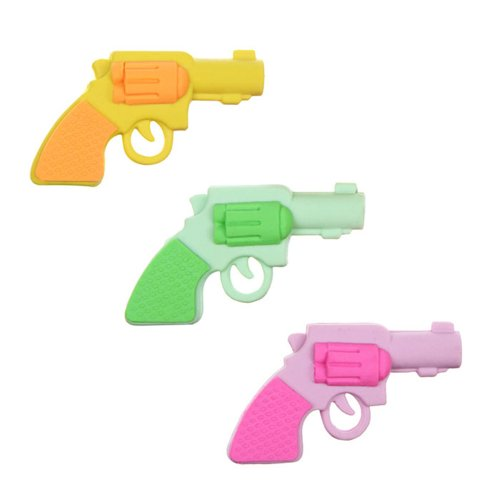 Price comparison product image 3pcs Lovely Gun Pistol Style Drawing Cleaner Rubber Wiper Eraser Random Color