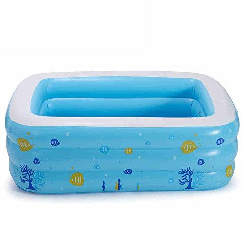 Niño infantil piscina hinchable bebé bañera bañera de hidromasaje inflable,130x90x50cm.