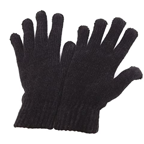 Ladies/Womens Chenille Winter Magic Gloves (One Size) (Black)