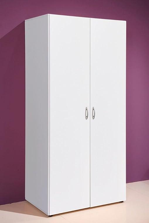Schrank weiß  Kleiderschrank BASE 2 Türen, Weiß, universell einsetzbarer Schrank ...