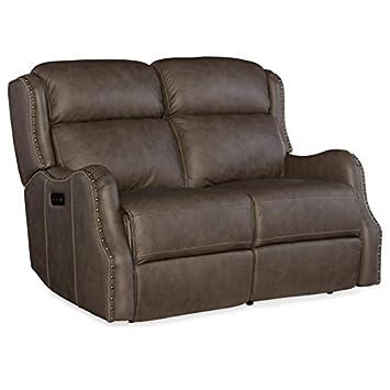 Pleasing Amazon Com Hooker Furniture Sawyer Leather Power Reclining Creativecarmelina Interior Chair Design Creativecarmelinacom