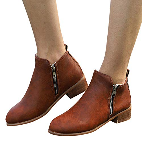 Brown DAYSEVENTH Boot Knight Shoes Short Boots Leather Ankle Ladies Booties Martin rrzCvF
