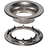 Stimpson Rolled Rim Grommet and Spur Washer Nickel-Plated Durable, Reliable, Heavy-Duty #8 Set (720 Pieces of Each)