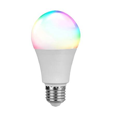 Bombillas inteligentes WiFi, E27 LED luces 4,5 W RGB ...