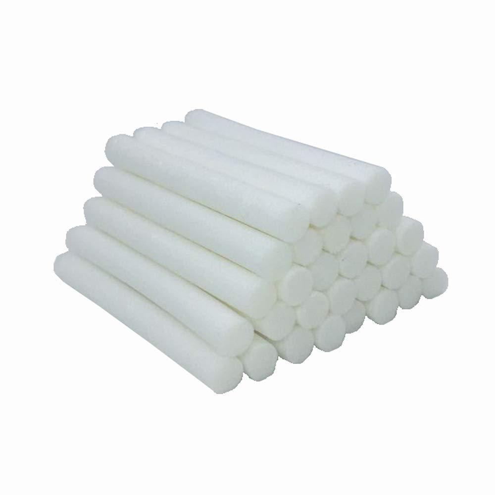 BINHAI 30-Pack Car Humidifier Sticks Cotton Filter Refill Sticks Filter Replacement Wicks for Portable Ultrasonic Aroma Diffuser Wick
