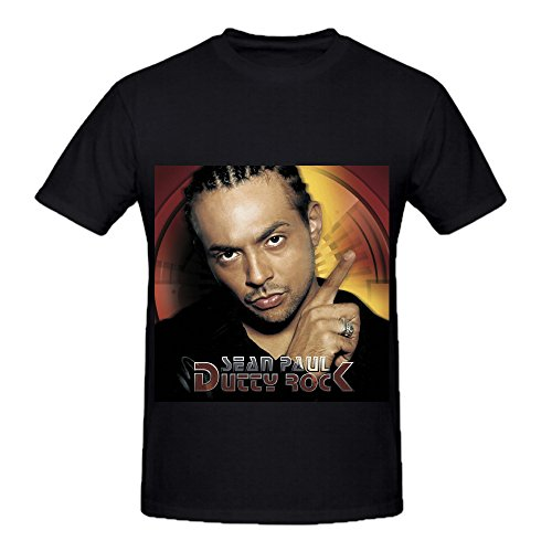 Sean Paul Dutty Rock Electronica Mens Round Neck Slim Fit Shirts Black (David And The Giant Pickle compare prices)
