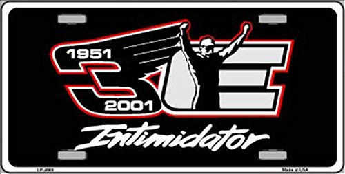 Dale Earnhardt Intimidator Novelty License Plate With Air Freshener ()