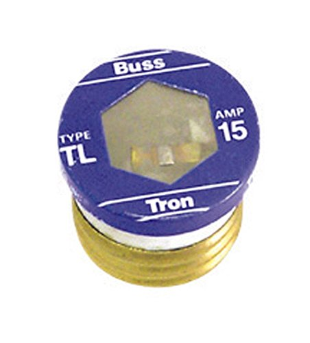 Bussmann TL-15PK4 15 Amp Time Delay, Loaded Link Edison Base Plug Fuse, 125V UL Listed, 4-Pack