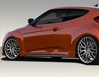 2012-2016 Hyundai Veloster Duraflex Turbo Look Side Skirts Rocker Panels - 2 Piece