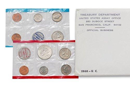 1968 U.S. Mint Set – 10 coin set 40% Silver Half Dollar