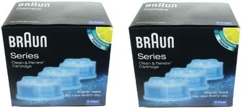 Braun Clean & Renew Shaver Cleaning Refill Cartridges (2 Boxes - 6 ...
