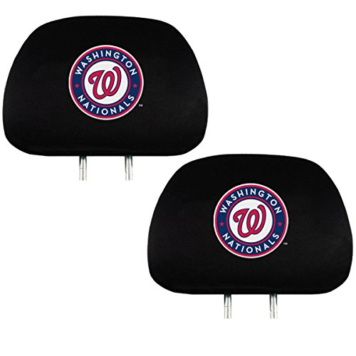 Team ProMark Official Major League Baseball Fan Shop Authentic Car Truck Auto MLB Headrest Cover (Washington Nationals) (Washington Nationals Headrest Covers)