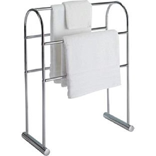 High Quality Traditional Curved Towel Rail - Chrome. ChoicefullBargain
