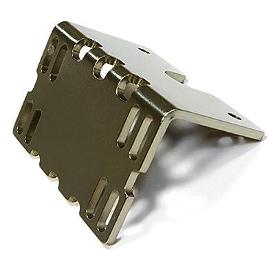 Integy RC Hobby C26138GUN Billet Machined Side ESC Mount Plate for Axial 1/10 SCX-10 Crawler