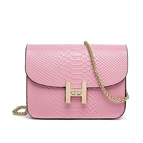 Crossbody Shoulder Metal Strap Bag For With Quilted Chain Pink Women Purse rrTOxw