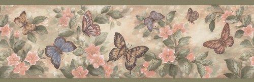 Brewster 137B38633 - Cenefa de pared con diseño de mariposas, Pasteles