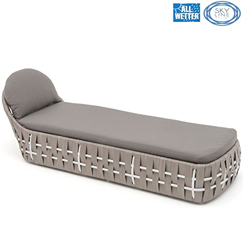 SKYLINE DESIGN® STRIPS LOUNGE LIEGE SINGLE LOUNGER