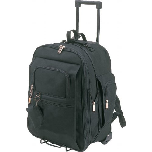 Black - Expandable School Rolling Backpack on ()