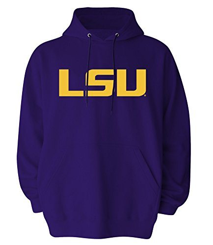 - Elite Fan Shop LSU Tigers Mens Hooded Sweatshirt Icon Purple - XL