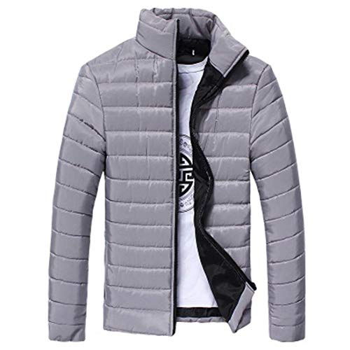 Young Blau Coat Fashion Coat Down Zipper Color Sleeve Collar Warm Stand Long Coat Jacket Solid Men's with Outerwear qdwPTv4q