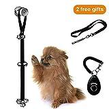 iBesi Dog Door Bells for Potty Training, AdjustableDog Whistle to Stop Barking, Free Dog Training Clicker with Wrist Strap for House-TrainingDog Training Set 3 Pcs