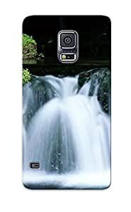 Galaxy S5 Case Slim [ultra Fit] Hokkaido Beautiful Waterfall Protective Case Cover