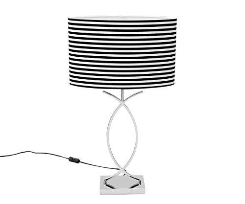 Lámpara de mesa blanco y negro lámpara de mesa 69 cm Diseño ...