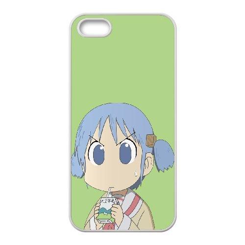 Mio Naganohara Nichijou 3 coque iPhone 4 4S Housse Blanc téléphone portable couverture de cas coque EOKXLKNBC25587